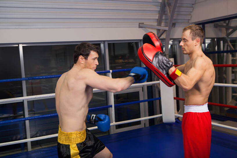 Boxing training and shoulder pain eased with rehabilitation